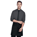 Black Cotton Waiter Uniform