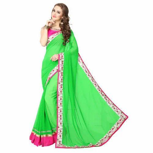 e13a982b32 Green Casual Wear Indian Ladies Saree, Rs 750 /piece, Soham Fashion ...