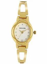 Women Sonata Pankh White Dial Stainless Steel Strap Watch