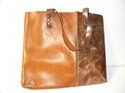Open Large Leather Tote Bag