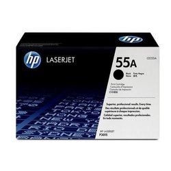 HP CE255A 55A Black Toner Cartridge