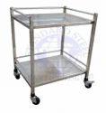 Standard Steel White Hospital Ss Instrument Trolley, Size: 24x18x32 Inch