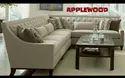 Applewood Living Room L Shape Wooden Sofa Set, For Home, Hotel