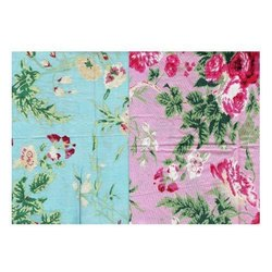 Organic Cotton Poplin Printed Multi Fabric