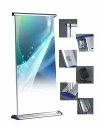 Portable Silver Luxury Rollup Standee