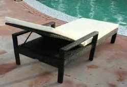 Wicker Pool Lounger