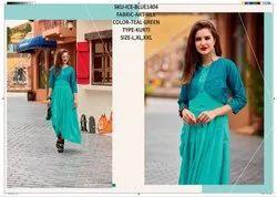 Rachna Art Silk Pattern Cut Work Catalog Kurti For Women 4