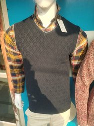 Mens Half Sleeves Sweater