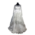 S / M / L/ Xl And Xxl Ladies Net White Wedding Gowns