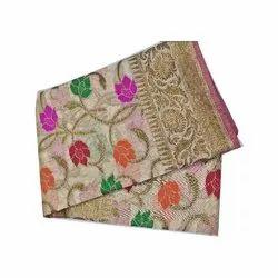 Party Wear Ladies Pure Cotton Sarees, 6.3 m