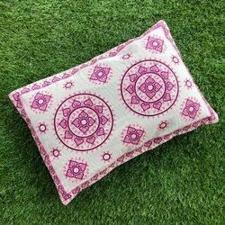 Floral and Geometry Decorative Pillow Cover, Size: 19 by 14