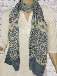Organic Silk Printed Scarves