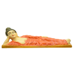 FRP Gautam Buddha In Resting Position Statue, Dimansion: H335 X W760 X D190 Mm