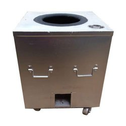 Stainless Steel Round Charcoal Tandoor, For Commercial
