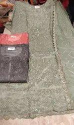 Fabric Upada Silk With Muslin Dupatta