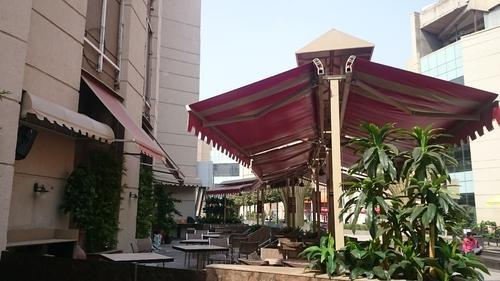 PVC Coated Cafe Awning