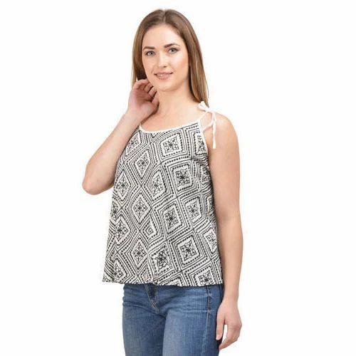 Cotton Casual Wear Ladies Surplus Printed Top