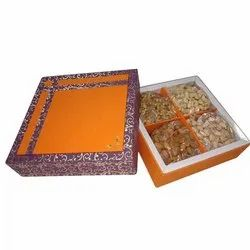 4 Partition Square Dry Fruit Box