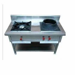 Stainless Steel LPG 2 Burner Cooking Range, For Commercial