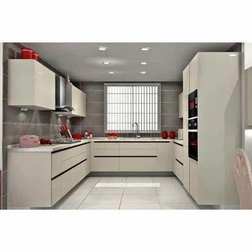 Sleek World Pvc Designer C Shaped Modular Kitchen Kitchen Cabinets Rs 130000 Unit Id 21041952933