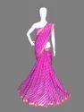 Kota Silk Golden Zari Border Leheriya Saree (5 Colours Available)