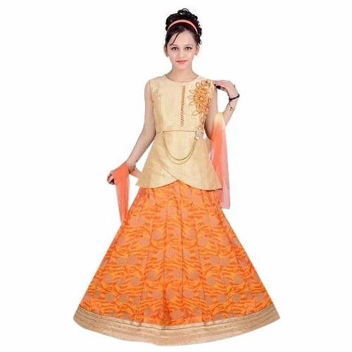 7c2b251d16c05 Various Colors Available Party Wear Kids Lehenga Choli, Rs 1000 ...