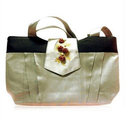 Ladies Designer Shoulder Silk  Bag