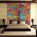 Tree Hippie Printed Mandala Wall Tapestry