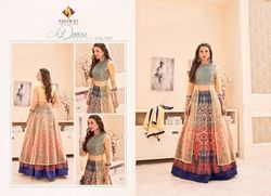 Golden Multi Color Anarkali Stylish Suit