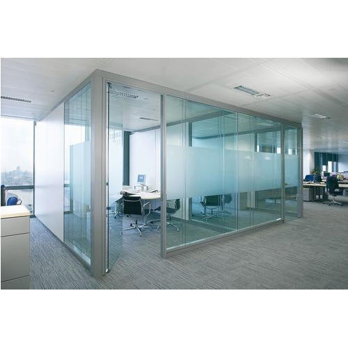 Plain Glass Door Partition Door Partition Kaivalya Glass And