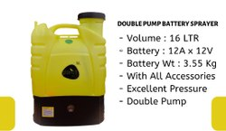 Plantis  Double Pump Battery sprayer -16 ltr (12A:12V)