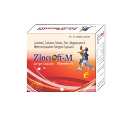 Zincsoft Methylcobalamin Calcium Citrate Calcitriol Capsules, 10x10 Capsules, Packaging Type: Strip+box