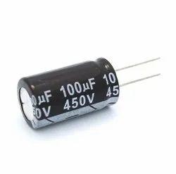 450v Ceramic 100 Uf Electrolytic Capacitor, For Power