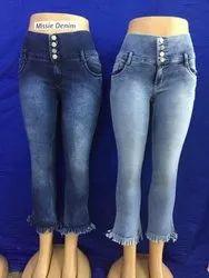 Ladies Stretchable Ankle Denim Jeans