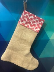 Natural Jute None Christmas Jute Socks