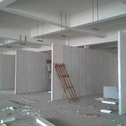 Cement based partition system