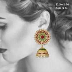 Meenakari Ethnic Enamel Work Jhumka Earrings
