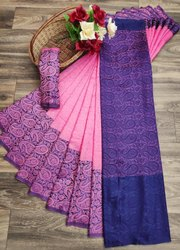 Formal Wear Border Indian Sarees 6 m (With Blouse Piece)
