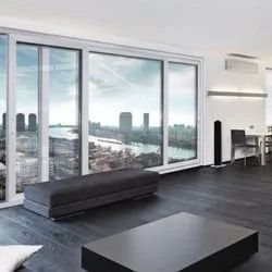 LG Hausys White Rectangular UPVC Sliding Window, Thickness Of Glass: 5 to 40mm, for Residential