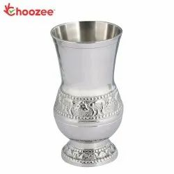 Choozee - Silver Plated Brass Glass (Embossed)