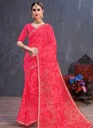 Embroidered Wedding Wear Designer Sarees