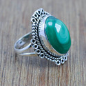 WOMEN JEWELRY MALACHITE GEMSTONE 925 STERLING SILVER NEW RING WR-4506