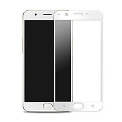 Oppo A57 Full Screen White Tempered Glass