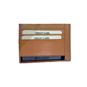 Brown Pure Cow Leather Card Holder Rfid Protection, Bag Size: 4*3