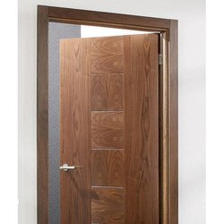 Waterproof Wood Brown Veneered Plywood Door