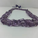 Natural Amethyst Faceted Nugget Tumble Beads Strand