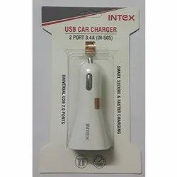 2 Port  Intex USB Car Charger