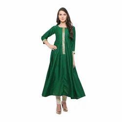Green Fancy Anarkali Kurta