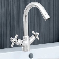 Cross Series Center Hole Basin Mixer