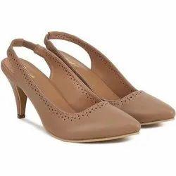 Ladies Brown Ballerina Shoe